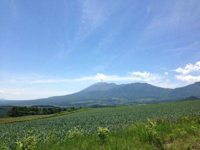 嬬恋から見える浅間山