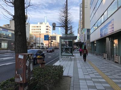 浜松市役所までの道