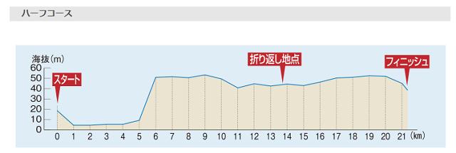 浜松シティマラソンのコース高低差