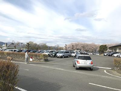 甘楽町陸上競技場の駐車場