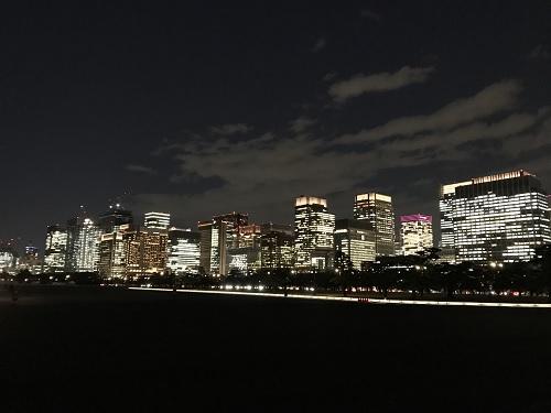 皇居の夜ラン