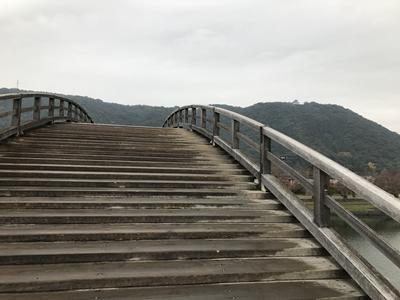 錦帯橋の傾斜