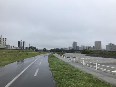 豊平川の河川敷コース
