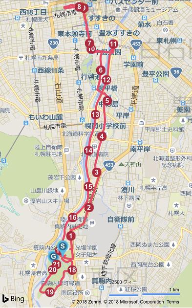札幌マラソンのコース
