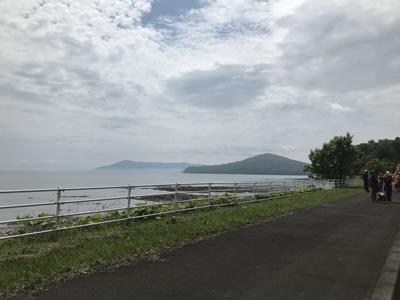 40km過ぎのサロマ湖
